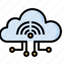 cloud, computing, miscellaneous, storage, technology, wifi, wireless icon