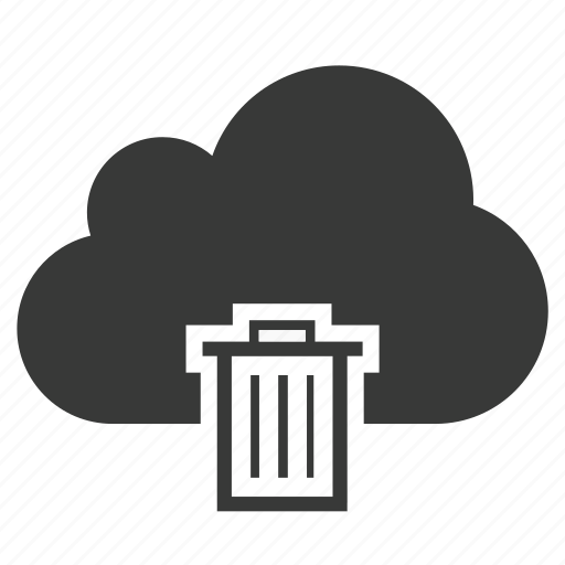 bin, cloud, delete, garbage, recycle, remove, trash icon