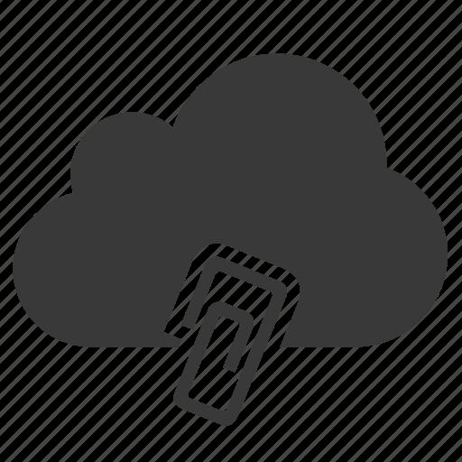 attach, attach file, attachment, clip, cloud, include, paperclip icon