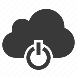 cloud, logout, off, power, quit, restart, shutdown icon