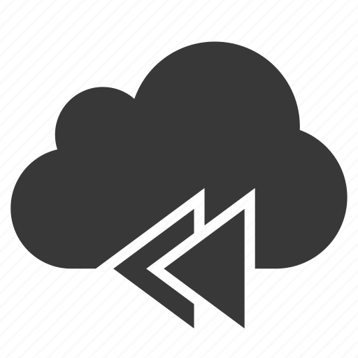 Cloud, previous, control, music, next, player, backward icon - Download on Iconfinder