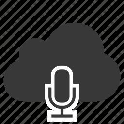 abstract mic, cloud, mic, microphone, speaker, studio mic, talk icon