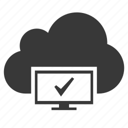 cloud, computer, connected, connection, ok, site, technology icon