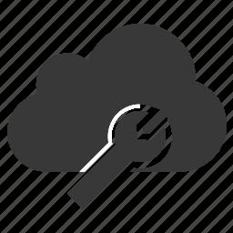 cloud, configuration, control, maintenance, preferences, setting, tools icon