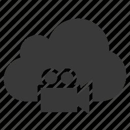 camera, cloud, film, movie camera, recorder, video, video camera icon