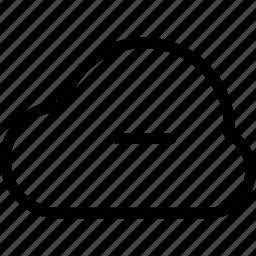 applications, backup, cancel, cloud, cloud-minus, cloud-remove, connection, creative, delete, grid, hybrid, internet, line, minus, online, private, public, remove, servers, service, shape, share, store, sync icon