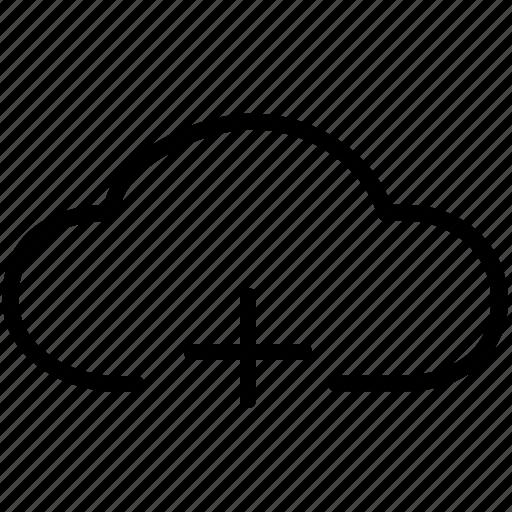 add, clouds, create, internet, new, plus, storage icon
