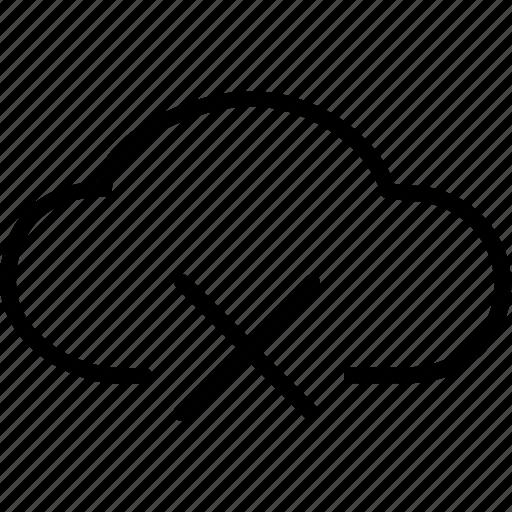 cancel, close, clouds, delete, remove, stop, storage icon