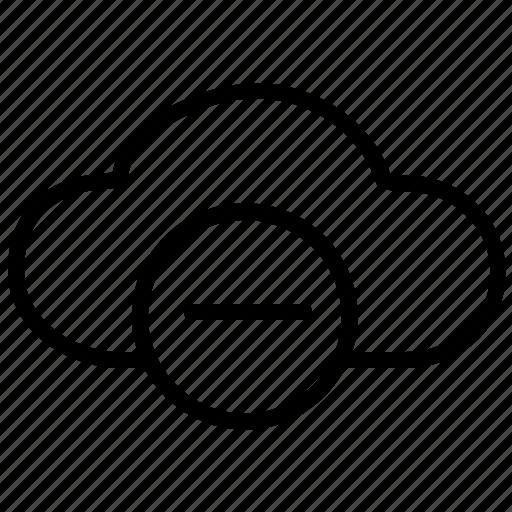cancel, clouds, delete, minus, remove icon