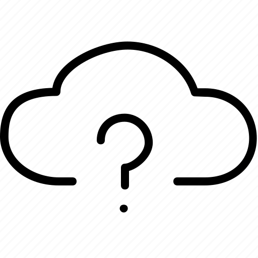clouds, communication, help, information, mark, question icon
