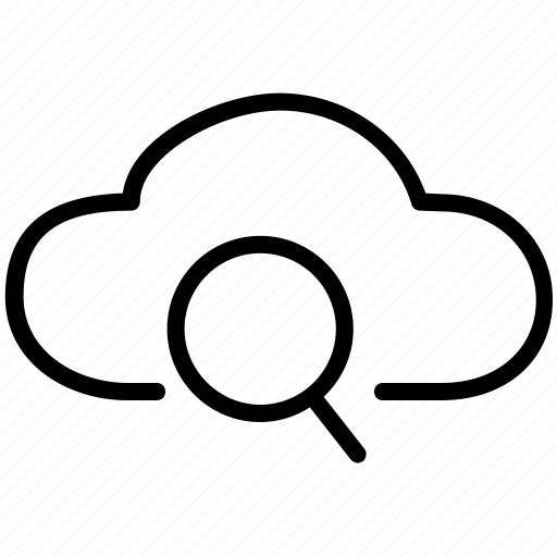 cloud, clouds, find, magnifier, search icon