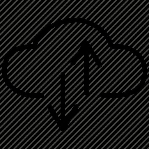 arrow, arrows, cloud, clouds, exchange, guardar, save, transfer icon