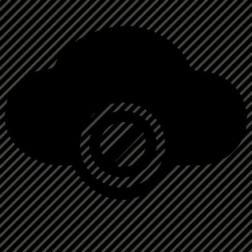block, cancel, close, cloud, delete, stop, storage icon