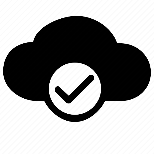 accept, approve, checkmark, cloud, confirm, storage icon