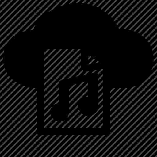 audio, cloud, multimedia, music, sound, storage icon