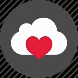 cloud, health, heart, hospital, love, medicine icon
