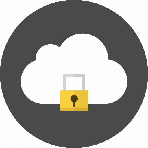 cloud, key, lock, locked, password, protect, secure icon