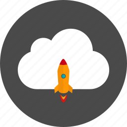 cloud, rocket icon