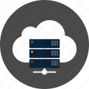 cloud, data, database, network, server, storage icon