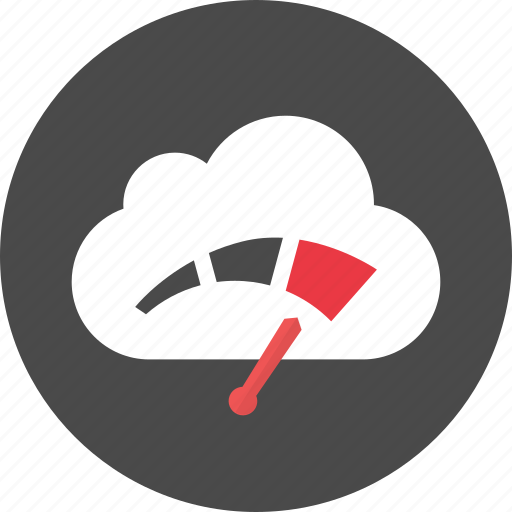 cloud, dashboard, speed icon
