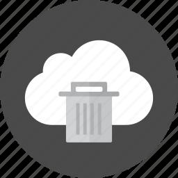 cloud, delete, remove, trash icon