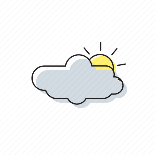 cloud, sun, weather icon