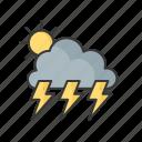 temperature, sun, weather, thunder, cold