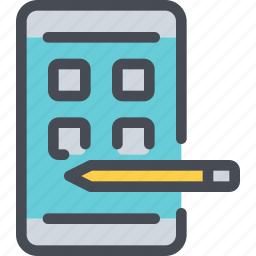 app, develop, development, mobile, smartphone icon