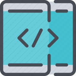 app, code, coding, develop, development, mobile, smartphone icon