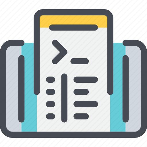 code, coding, develop, development, mobile, smartphone icon