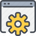 business, develop, development, gear, process, seo icon