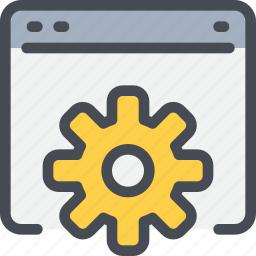 business, develop, development, gear, process, seo icon