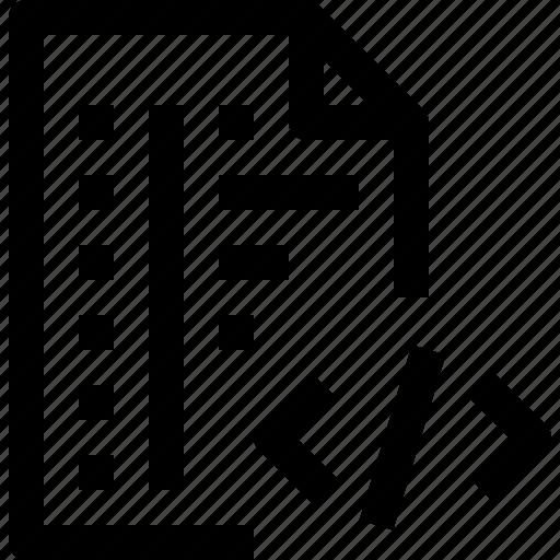 code, codefile, development, file, programming icon