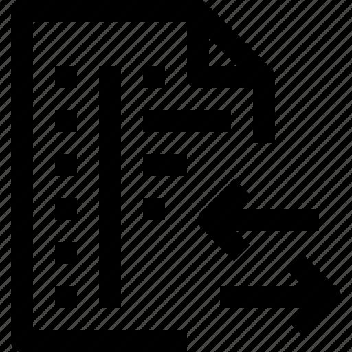 arrow, code, codefile, development, file, programming icon