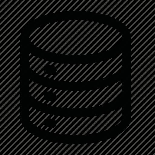 data, hard disk, info, storage icon