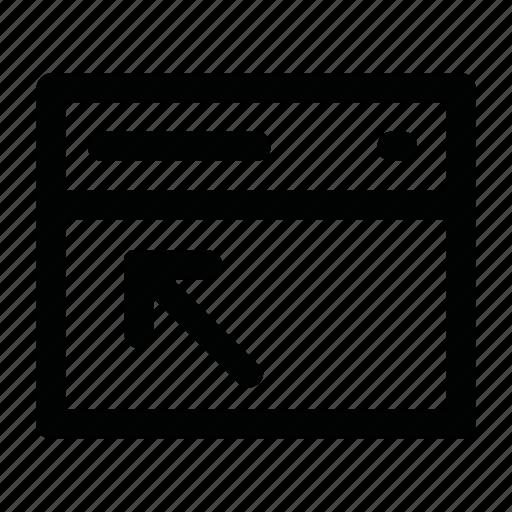 screen, site, tag, window icon