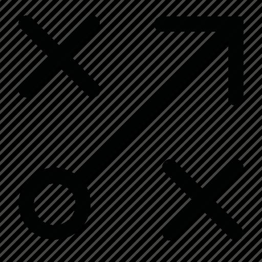 arrow, code, cross, element, interface icon
