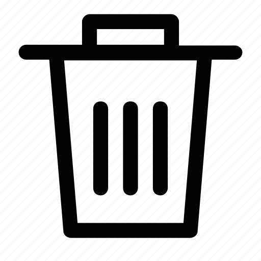 basket, bin, garbage, trash icon