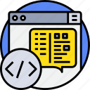 browser, code, coding, programming icon