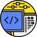 code, coding, develop, programmer, programming icon