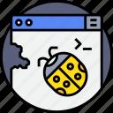 bug, code, coding, develop, error, programmer, programming icon