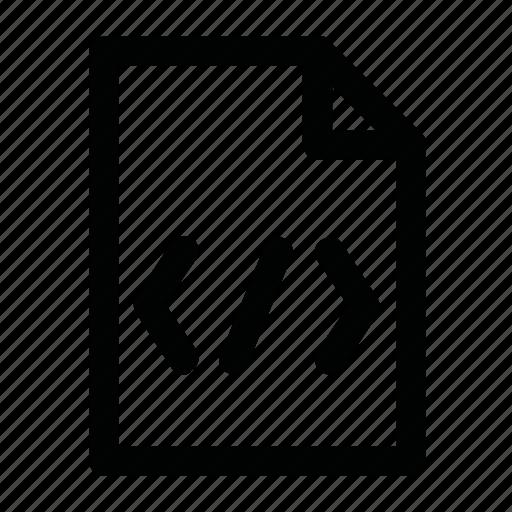 code, css, doc, html, script icon