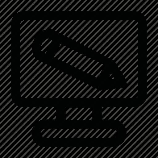 computer, design, edit, pencil, web icon