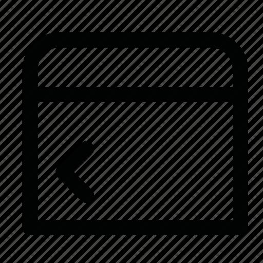 arrow, back, less, previous, tag icon