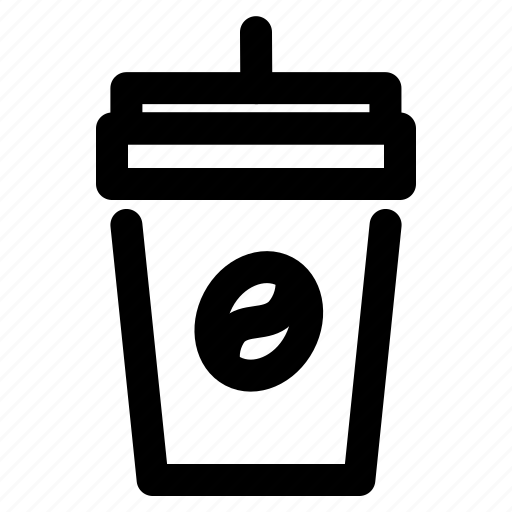 coffe, drink, glass, outline, restaurant icon