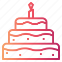 bakery, birthday, cake, food icon