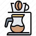 coffee, drip, dripper, jug, maker icon