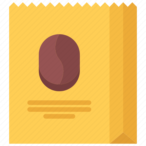 bag, bean, cafe, coffee, drink, package, paper icon