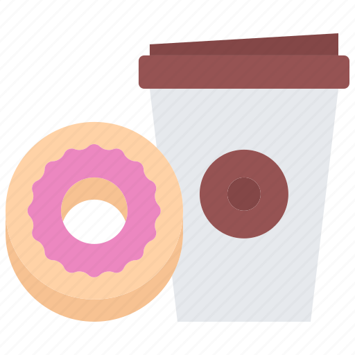 Bean, cafe, coffee, cup, donut, drink, paper icon - Download on Iconfinder