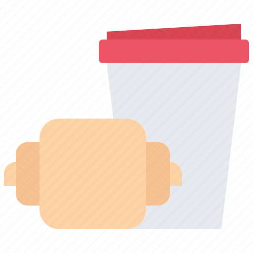Bean, cafe, coffee, croissant, cup, drink icon - Download on Iconfinder